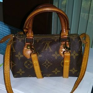 LV Mini Speedy with Crossbody LV strap